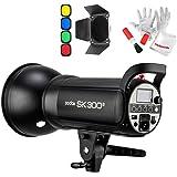 Godox SK300II スタジオ撮影 ストロボフラッシュライト300Ws GN65 150Wモデリングランプ 2.4GワイヤレスXシステ ム内蔵 光量調節可能 Bowensマウント 標準リフレクターディフューザーキット同梱