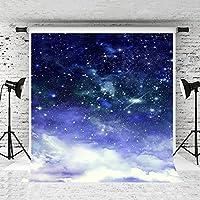 Kate 1.5x2.2mダークブルー星空スカイベビー写真の背景クラウド写真の背景と子供ウォッシャブルフォトスタジオの小道具