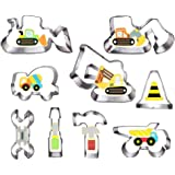 Construction Cookie Cutter Set-3 Inches-9 Piece- Excavator Digger Bulldozer Dump Truck Hammer Wrench Construction Tools Cutte