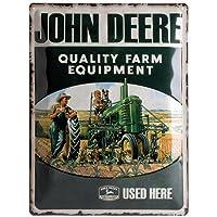 Nostalgic Art 23137 Tin Sign John Deere Quality Farm Equipment 30 x 40 cm