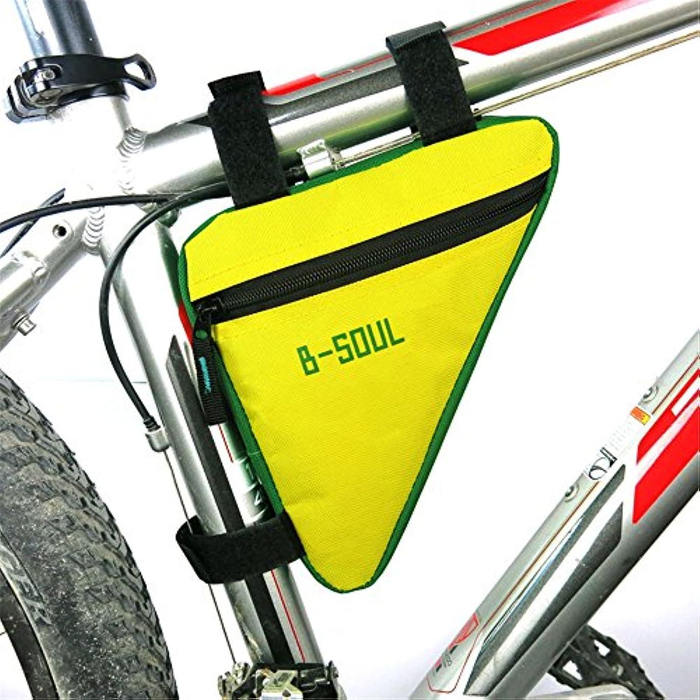 明確な透けて見える見捨てるサイクリングバッグ防水スポーツ自転車パニエバイクフレームバッグ、アウトドアサイクリングアクセサリー自転車フロントチューブトライアングルバッグ サイクリングバッグ防水 (色 : 黄)