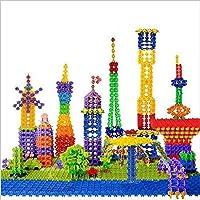 yiteng 雪の花びら スノーフレーク 立体パズル プラスチック 組み合わせ はめこみ 組み立て 積み木 ブロック入園のお祝い -100個