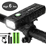 IPSXP Bicycle Headlight, USB Rechargeable 1000 Lumen LED Bike Front Light High Bright 6 Hours Mountain Road Cycling Safety Co