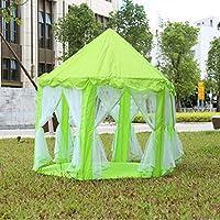 LargeインドアとアウトドアKids Play HouseグリーンHexagonプリンセス城Kids Playポータブルテント子Play Tent – 55