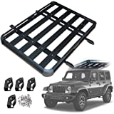 Roof Rack Cargo Carrier, Aluminum Roof Basket Roof Rack Basket Roof Mounted Cargo Rack for Car Top Luggage Traveling SUV Hold