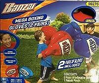 Banzai エア・ボクシング・グローブ 2ペア (1)レッド&(1)ブルー