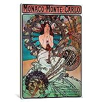 iCanvasART 1Piece Monaco Monte Carlo ' 1897'キャンバスプリントby Alphonse Mucha 0.75 x 8 x 12-Inch 15167