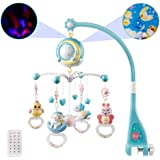 OtotaCam ベッドメリー ベビーベッドおもちゃ 赤ちゃんメリー ベッドオルゴール 360回転 音楽 投影 リモコン…