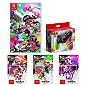 Splatoon 2 (スプラトゥーン2)+Nintendo Switch Proコントローラー スプラトゥーン2エディション+amiibo3種(ガール【ネオンピンク】、ボーイ【ネオングリーン】、イカ【ネオンパープル】)+【Amazon.co.jp限定】オリジナルメタルチャーム3種(ガール・ボーイ・イカ(連結可能))