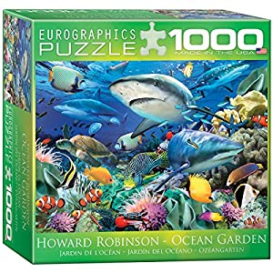 Eurographics Swimming with Sharks by HowardロビンソンJigsawパズル(小さなボックス) ( 1000-piece )