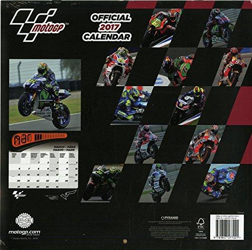 2017 Moto GP Official Calendar (Square)