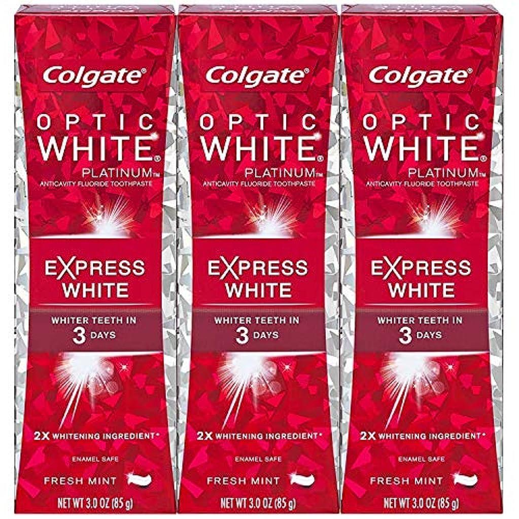 予報サリー権限を与えるColgate オプティックホワイトプラチナエクスプレス白の歯磨き粉、フレッシュミント3オズ(3パック)