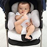 AIPINQI Baby Stroller Cushion, Head and Body Support Pillow Cotton Soft Breathable Baby Stroller Liner Pram Washable Baby Str
