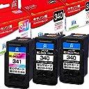 【送料無料】BC-340 / BC-341 ブラック/カラー セット 対応 ジット リサイクル インクカートリッジ キヤノン Canon ブラック2個 / カラー1個 【JIT-C340BSx2-C341CSx1】C340B C341C ※ 純正品とは使用方法が異なります