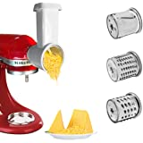 Slicer/Shredder Attachment for KitchenAid Stand Mixers,Cheese Grater Attachment,Vegetable Slicer Attachment,Grater Accessorie