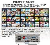 プロジェクター 小型 1080PフルHD対応 2800LM LED ホームシアター 映画鑑賞 内蔵スピーカー ゲームプロジェクター 動画/スポーツ/ゲームに適し パソコン/スマホ/タブレット/TV Stick/PS3/PS4/DVDプレイヤーなど接続可 画像