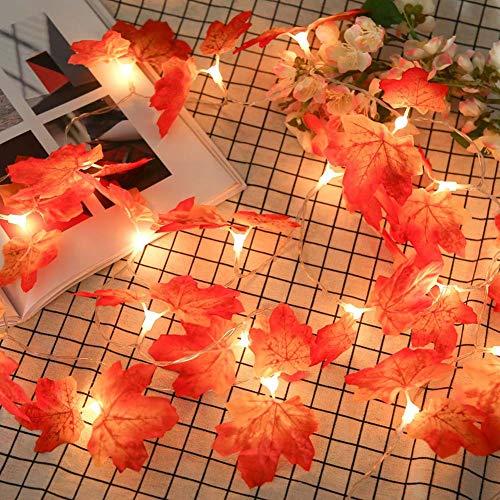 Cutelove LEDライト ストリングライト イルミネーション 点灯 点滅 間接照明 紅葉型 電飾 室内室外 電球数20個 乾電池方式...
