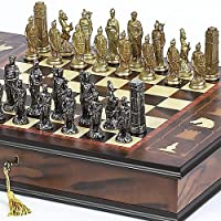 Lorenzini Chessmen & Napoli Chess Board/Case From Italy by