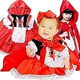Sサイズ 1歳?2歳(80-90cm) Lollypops!!! オリジナル 赤ずきん ちゃん フルセット Little Red Riding Hood ≪ ワンピース エプロン 頭巾 ビッグリボン 4点セット ≫ [並行輸入品]