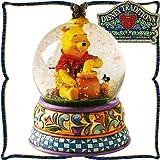ウォーターグローブ 【木彫り調フィギュア】 (65mm) 「蜂蜜プー」  Hunny Of A Bear  <くまのプーさん> ディズニー?トラディション