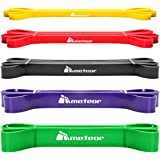 Meteor Essential Power Bands, Resistance Loop Set, Natural Latex Fitness Bands for Workout, Yoga, Weightlifting, Physical The