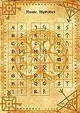 Runic Alphabet parchment poster wicca pagan print art witch magick runes ルーン文字のアルファベット羊皮紙のポスターウィッカの異教のプリントアート魔女魔術ルーン