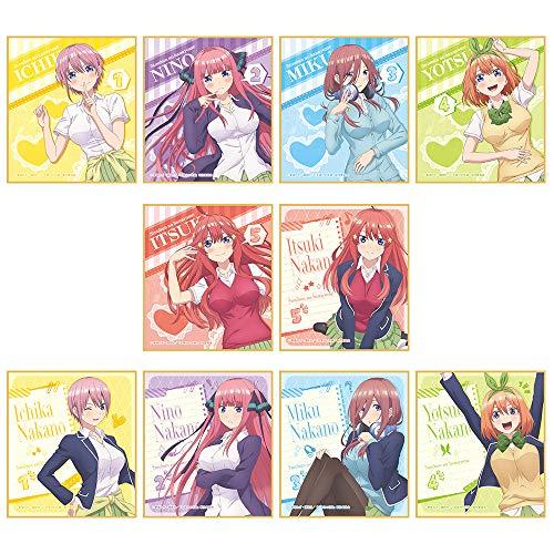 五等分の花嫁 トレーディングミニスタンド色紙 BOX商品 1BOX=10個入り、全10種類
