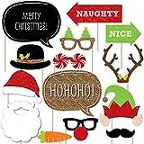 クリスマスパーティ- 写真ブース 小道具キット - 20個