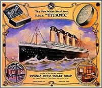 1912タイタニックオーシャンライナー旅行広告ポスター10x13平行輸入