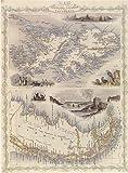 パタゴニア 1800のFalkland Islands PatagoniaマップLargeヴィンテージポスターREPRO