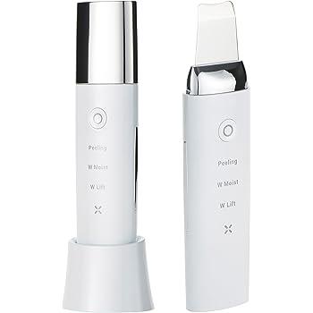 美顔器 COSBEAUTY アクリアルピーリングプロ Aqurial Peeling Pro CB-018 多機能 超音波 防水仕様 1年保証 コスビューティー (ホワイト)