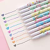 Cute Pens Colorful Gel Ink Pen Set for Bullet Journal Writing Toshine Multi Colored Pens Cartoon Gel Ink Roller Ball Fine Poi