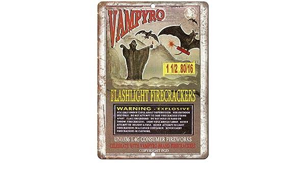 "Vampyro Firework Package Art 10/"" X 7/"" Reproduction Metal Sign ZD79"