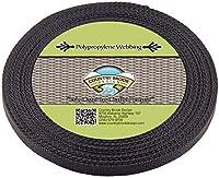 Country Brook Design ブラックポリプロピレン 1/2インチ ウェビング 50 Yards ブラック WP-BLA-1.2-50