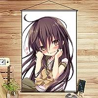 COSMORE 灼眼のシャナ シャナ Shana タペストリー アニメ スクロール軸 掛け絵 ハイビジョンデジタル印刷 ポスター 装飾画 壁掛け絵画 部屋装飾(90cmX60cm)