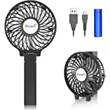 VersionTECH. Mini Portable Fan, USB Battery Operated Desk Fan, Small Personal Handheld Table Fan with USB Rechargeable Coolin