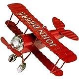 (イスイ)YISHUI ドイツ双翼飛行機 レトロ飛行機 モデル ブリキ製品 装飾 飾り 置物 インテリア おもちゃ 飛行機模型 オブジェ