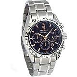 メンズ腕時計 クロノグラフ ダンクラーク 日本製ムーブメント搭載 サファイアクリスタルガラス 10気圧防水 天然ダイヤモンド 肌に優しいオールステインレス素材 ビジネスウォッチ スモールセコンド ラグジュアリー ギフト 贈り物