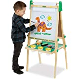 Crayola Kids Wooden Easel, Dry Erase Board & Chalkboard, Gift for Kids, Age 4, 5, 6, 7