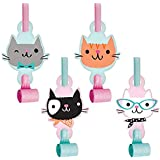 Creative Converting Purrfect Party Blowouts with Medallions, 8 Pieces