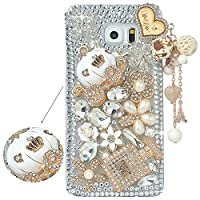 Spritech(TM) Samsung Galaxy S6 Edge Plus Clear Phone CaseSilver Bling 3D Handmade Crystal Bottle Flower Pattern Design Hard Smartphone Cover for Samsung Galaxy S6 Edge Plus [並行輸入品]