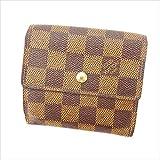 ルイヴィトン Louis Vuitton Wホック財布 三つ折り財布 男女兼用 ポルトモネビエカルトクレディ N61652 ダミエ 中古 C2309