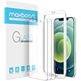 """Maxboost 3 Pack Glass Screen Protector Compatible with iPhone 12 Mini Screen 5.4"""", Tempered Glass Screen Protector for iPhone"""