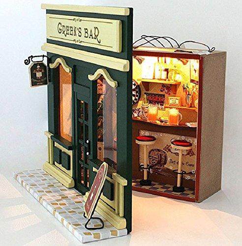 【 Alnair 】 ドールハウス シリーズ 家具 材料 手作りキットセットミニチュア ままごと にも (C-006 Green's Bar)