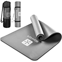 【2021年度版】ヨガマット トレーニングマット ピラティスマット エクササイズマット NBR素材 高密度 厚さ10mm…