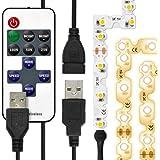 (リモコン式 USB延長ケーブル付) LEDテープライト (90度 曲がる) 貼レルヤ USB (電球色) 2m 120灯 角に合わせて曲げながら両面テープで貼り付け可能なフレキシブルタイプ 3000K JTT Online LEDTLMHAUIN2M
