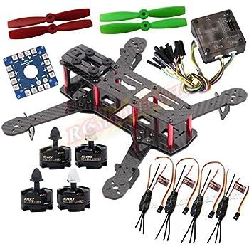Hobbypower QAV250クワッドローターキット炭素繊維製 Emax MT2204 BL モーター&Simonk 12A ESC& CC3D フライトコントローラー&5045プロペラ