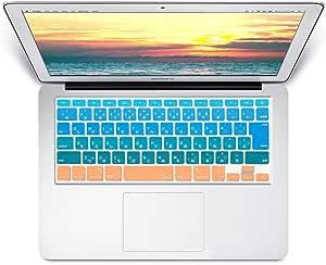 MS factory MacBook Air 13 (-2017) / Pro Retina 13 (Late2012-Early2015) / Retina 15 (Mid2012-Mid2015) インチ キーボード カバー 日本語 JIS配列 Air13 Retina13 Retina15 インチ キーボードカバー RMC series Sunrise グラデーション カラー RMC-KEY-AR-SUNRISE