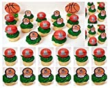 MILWAUKEE BUCKS 14 Piece NBA Basketball Birthday Party Cupcake Topper Set - Includes All Cupcake Toppers and Accessories Shown in Photo [並行輸入品]