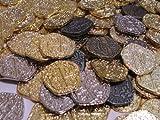 Pirate Coins海賊の宝のコイン 30枚 メタルゴールド&シルバー ダブロン硬貨レプリカ